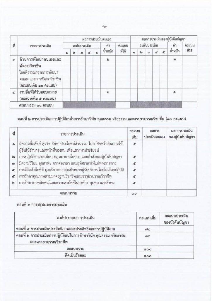 แบบประเมินผลการปฏิบัติงานของข้าราชการครูและบุคลากรทางการศึกษา (แบบใหม่ 29 มี.ค.62)